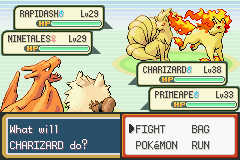 Pokemon Fire Red - Battle  - flame battle!!! - User Screenshot