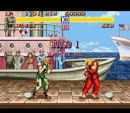 Street Fighter II - The World Warrior - Level  - USA fight! - User Screenshot
