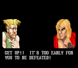 Street Fighter II - The World Warrior - Gameover  - Game over! - User Screenshot