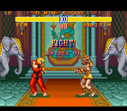 Street Fighter II - The World Warrior - Level  - Battle 1! - User Screenshot