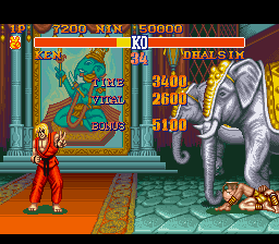 Street Fighter II - The World Warrior - Level  - Winner! Again! - User Screenshot