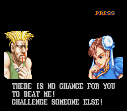 Street Fighter II - The World Warrior - Gameover  - I lost to a girl! - User Screenshot