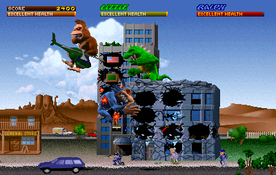 Play Rampage: World Tour (rev 1 3) Online MAME Game Rom - Arcade