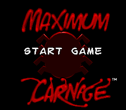 Spider-Man & Venom - Maximum Carnage - Introduction  - Title Screen - User Screenshot