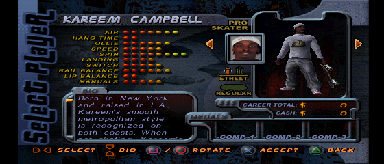 Kareem Campbell Video Game Character Profile Vizzed