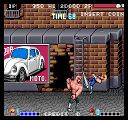 Double Dragon (Japan) - Level Mid boss -  - User Screenshot