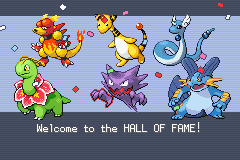 Pokemon Shiny Gold - hall of fame - User Screenshot