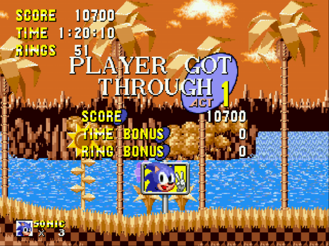 Sonic 1 Megamix - I Though Sonic Got Through, Not Me. - User Screenshot