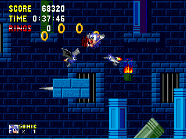 Sonic 1 Megamix - AHHH!! BATS!! - User Screenshot