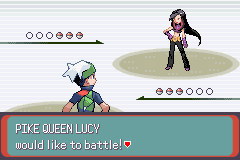 Pokemon Emerald - Battle  - The Queen!!!! - User Screenshot
