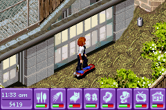 Urbz, The - Sims in the City - Me on a hoverboard! - User Screenshot