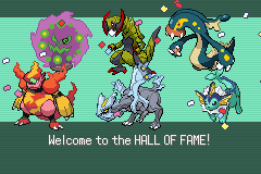Pokemon Victory Fire (v1.91) - Ending  - beat elite 4 finally - User Screenshot