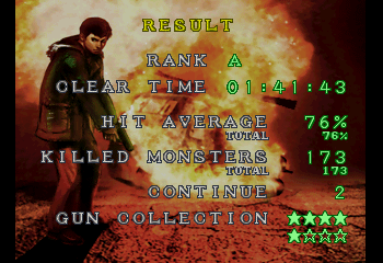 Resident Evil Survivor  - Ending  - RANK A! - User Screenshot