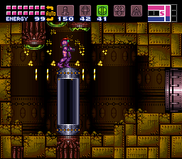 Super Metroid - Location Tourian - spazer beam combo - User Screenshot