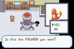 Pokemon Ash Gray (beta 2.5z) - Charmander I Choose Vc! Oh the Poke Ball is e - User Screenshot