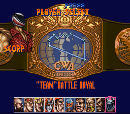 Saturday Night Slam Masters - Character Select  -  - User Screenshot