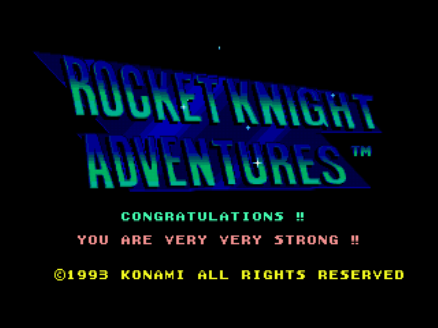 Rocket Knight Adventures - Ending  - You