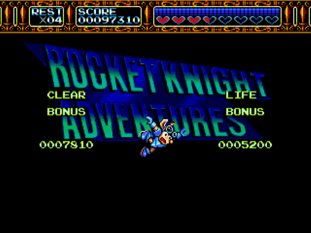 Rocket Knight Adventures - BEST...POSE....EVER!! XD - User Screenshot