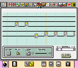 Mario Paint (Joystick) - Cut-Scene  - New Rally-X theme - User Screenshot