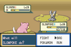 Pokemon Leaf Green - shiny Slowpoke vs shiny Slugma - User Screenshot
