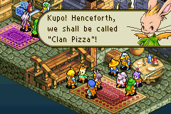 Final Fantasy Tactics Advance - It is official.... we are now... CLAN PIZZA!! - User Screenshot