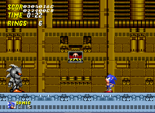 Sonic 2 Long Version - Sonic facing off against Metal Sonic - User Screenshot