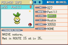 Pokemon - Yet Another Fire Red Hack - Character Profile  - my very first shiny -.- and its this s***? - User Screenshot
