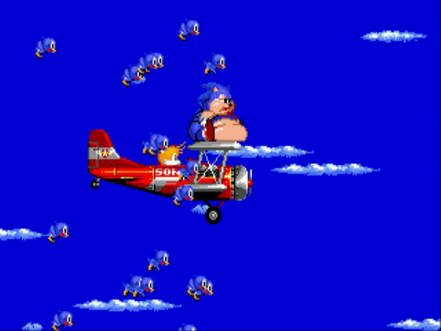 Sonic 2 XL - Ending  - Tails:Oh my god sonic you ate all my snacks?! - User Screenshot