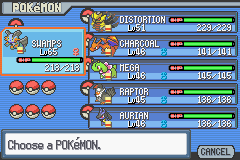 Pokemon Light Platinum - Character Profile Pokemon Team - Lol, this team beat the first Pokemon League! - User Screenshot