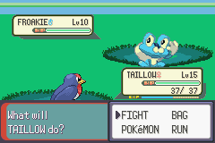 Pokemon Resolute (alpha 1.1) - Battle  - FROAKIE!!!!!!!! - User Screenshot