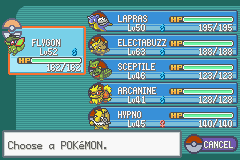 Pokemon Fire Red Omega -  My final team :D - User Screenshot