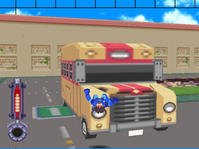 Mega Man 64 - Misc car crash - i belive i can fly ..... ow - User Screenshot