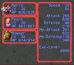 Super Mario RPG Armageddon (final upgrade) - Character Profile  - Everyone