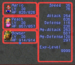 Super Mario RPG Armageddon (final upgrade) - Character Profile  - Always getting kidnapped, Princess Peach - User Screenshot