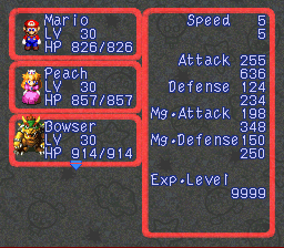 Super Mario RPG Armageddon (final upgrade) - Character Profile  - Mario