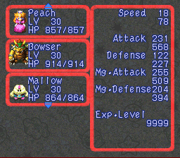 Super Mario RPG Armageddon (final upgrade) - Character Profile  - The Nimbus Prince, Mallow - User Screenshot