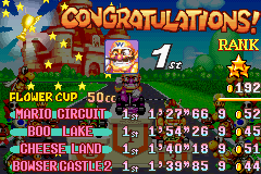 Mario Kart - Super Circuit - rank 3 star perfect - User Screenshot