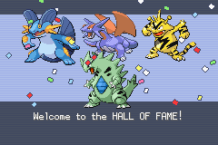 Pokemon Fire Red Omega - First time beating the eilte 4. - User Screenshot