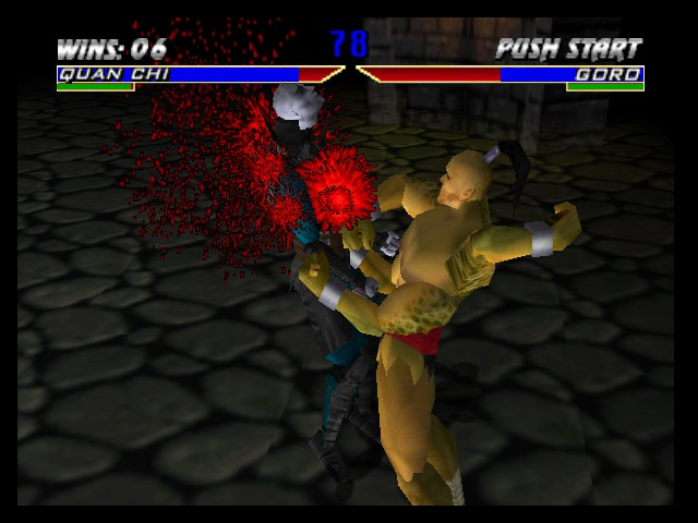 Mortal Kombat 4 - Goro bashing Quan Chi - User Screenshot