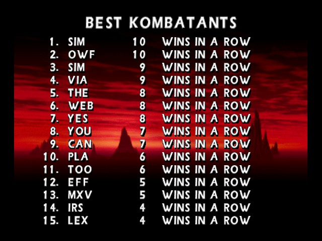 Mortal Kombat 4 - I am the Champ - User Screenshot