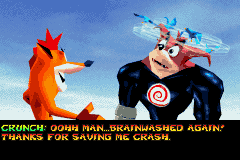 Crash Bandicoot 2 - N-Tranced - Cut-Scene  - Just like in the GameCube Game... - User Screenshot