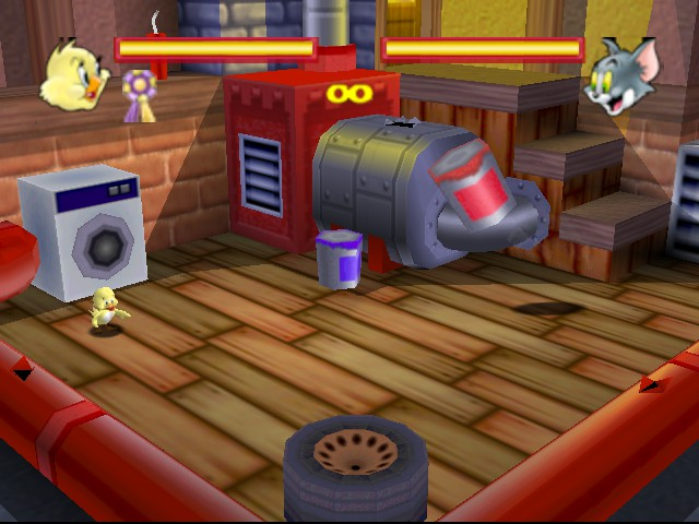Tom and Jerry in Fists of Furry - Level boss level - tom the invisible cat  - User Screenshot