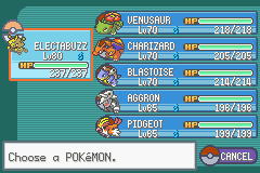 Pokemon Fire Red Omega - My Team Before Giovanni - User Screenshot