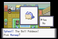 Pokemon Genesis - Spheal as a starter. - User Screenshot