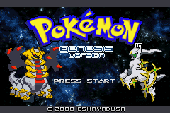 Pokemon Genesis - Start page - User Screenshot