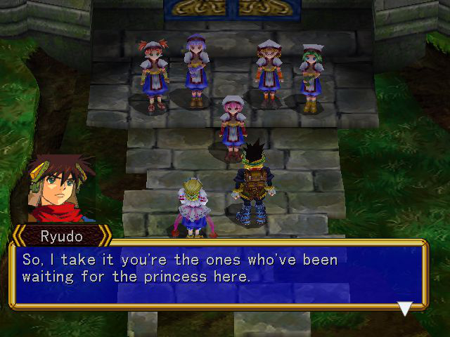 Grandia II - Misc Story - Finally reached the tower. - User Screenshot
