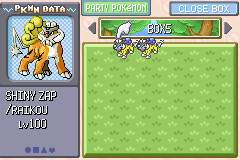 Pokemon Rebirth - Shiny Raiku guys im so lucky xD - User Screenshot