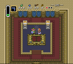 The Legend of Zelda - A Link to the Past - Zelda just watched herself disappear! - User Screenshot