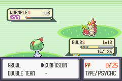 Pokemon Emerald - Battle  - no offensive attacks, no problem - User Screenshot