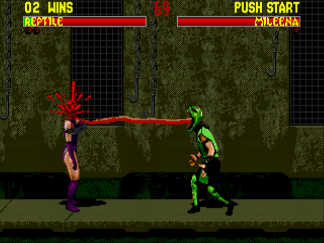 Mortal Kombat 2 - Reptile - hungry. :) - User Screenshot